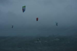 Kite surfers Weymouth