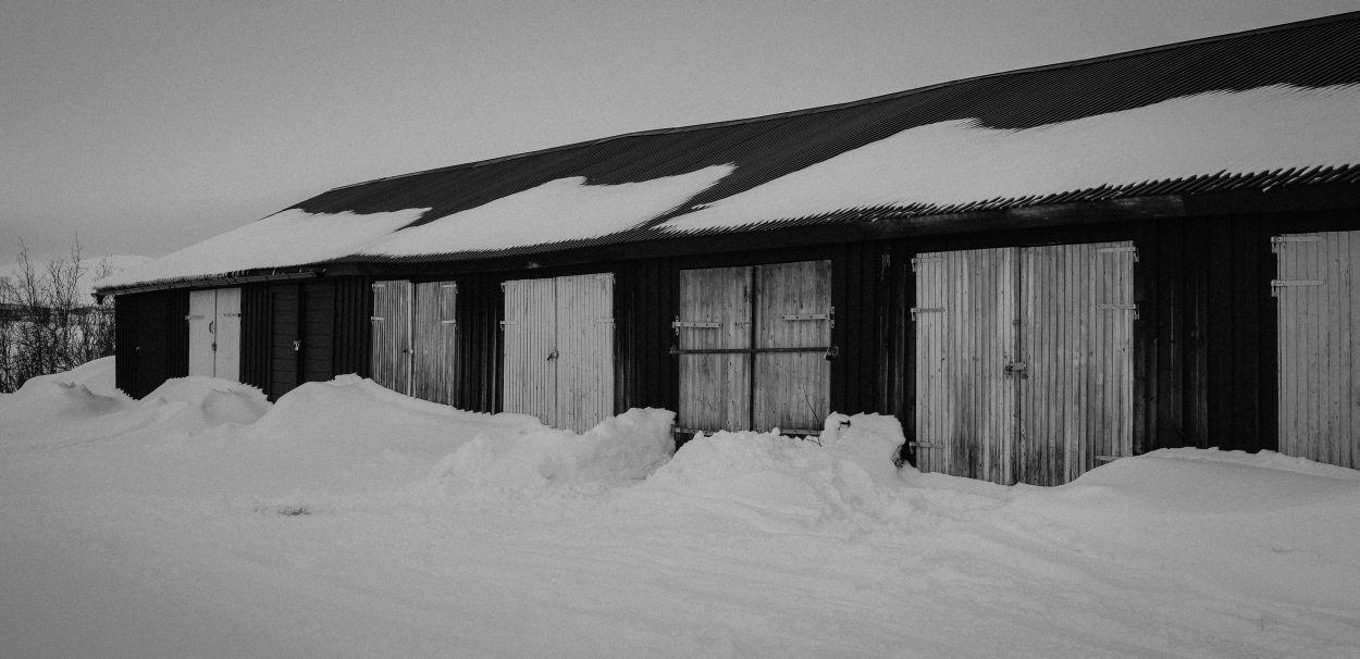 Lakeside huts