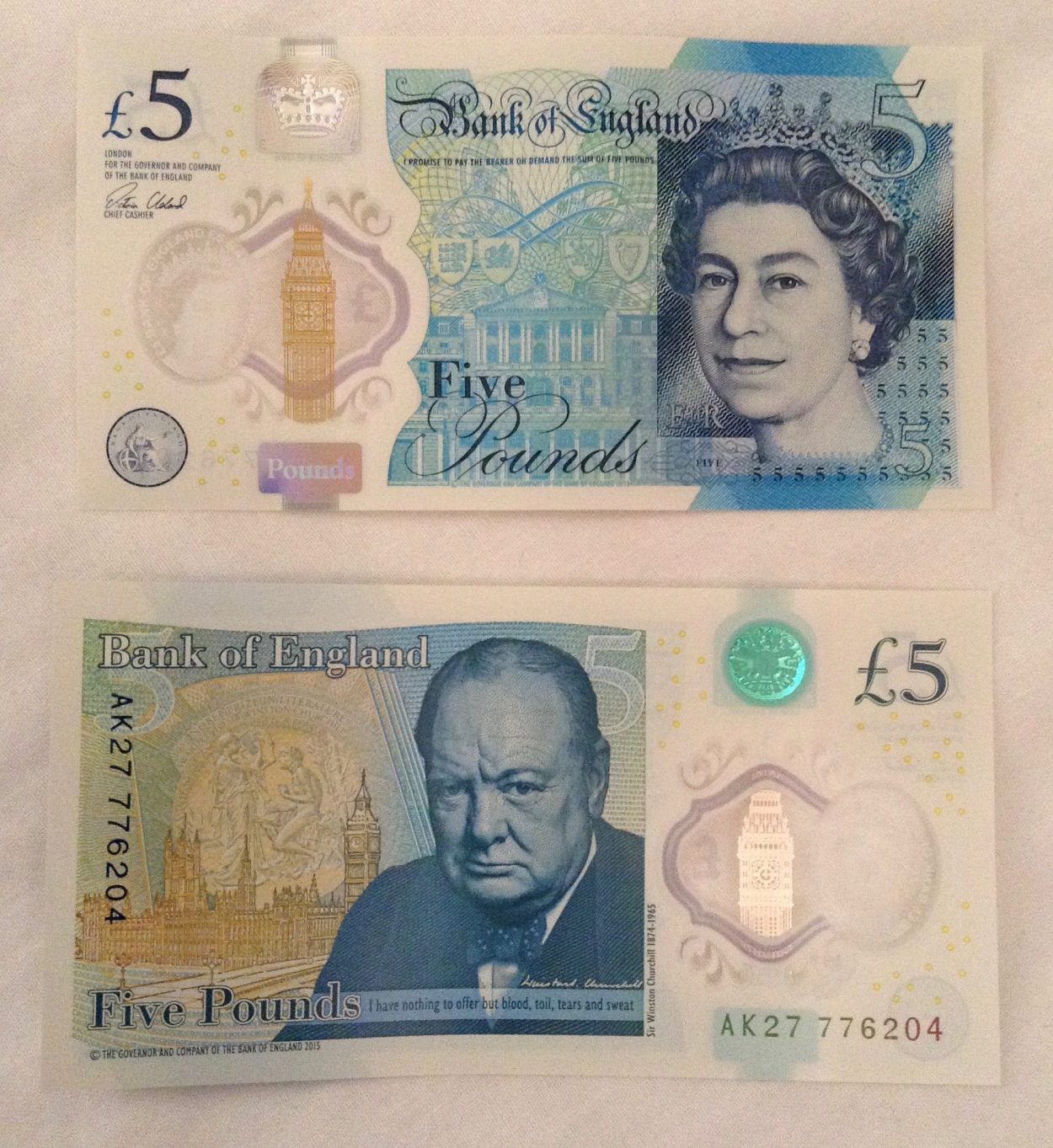 New fivers